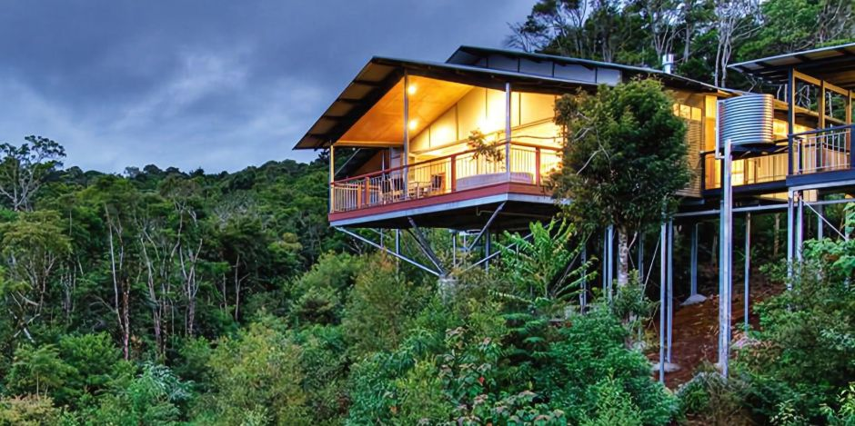 Exklusive Lage des O'Reilly's Rainforest Retreats