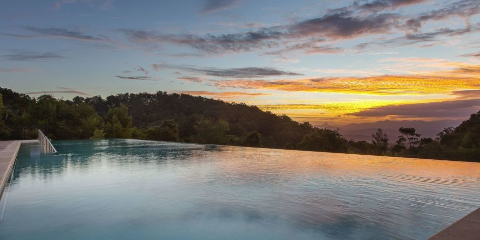 Infinity-Pool im O'Reilly's Rainforest Retreat, Australien