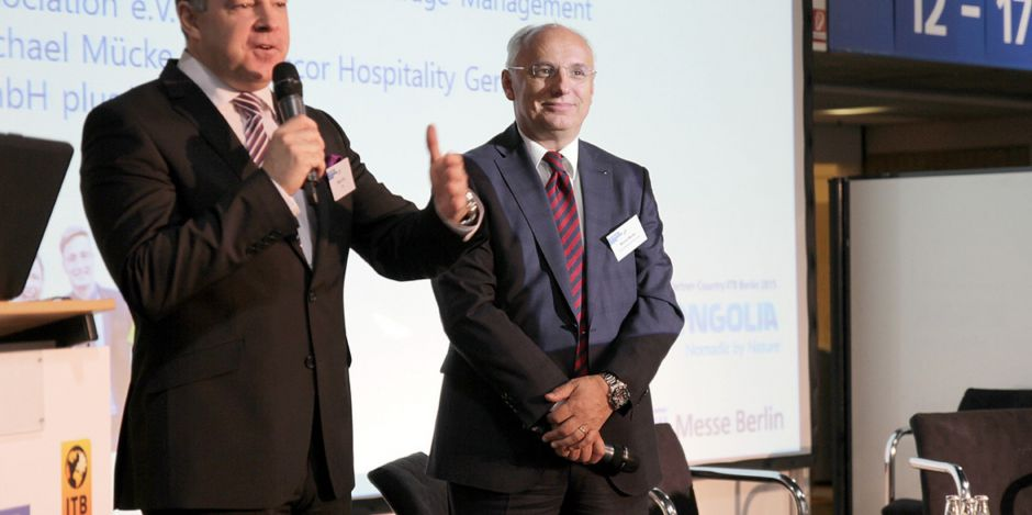 Mario Pick, Welcome Hotels & FBMA Präsidium (links), und Michael Mücke, Accor Deutschland