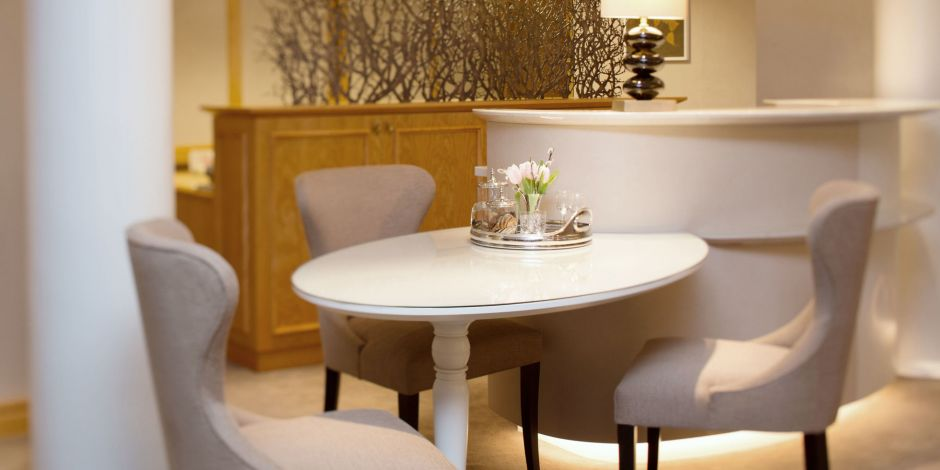 Der Concierge-Table an der Rezeption