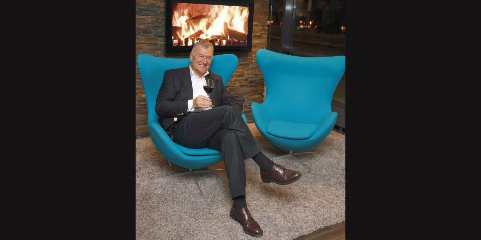"Im ""Egg""-Chair: Motel-One-Chef Dieter Müller"