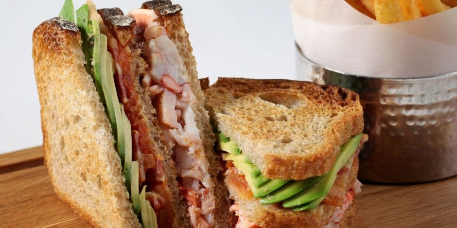 Kaspar's Lobster Club Sandwich